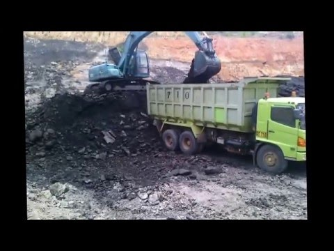 Mining Operation of a Coal Mine at Kalimantan, Indonesia