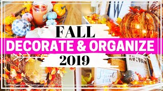 DECORATE FOR FALL ON A BUDGET :: FALL DECORATING 2019 :: DOLLAR TREE FALL CRAFTS