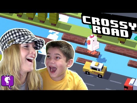 CROSSY ROAD Video Game App + Toy Surprises with HobbyMom and HobbyPig