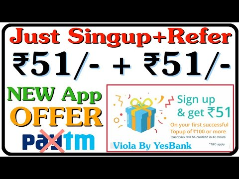 Viola Wallet App Just Singup, ₹51/- Directly into Bank + ₹51/- Per Refer || Offered By #YesBank