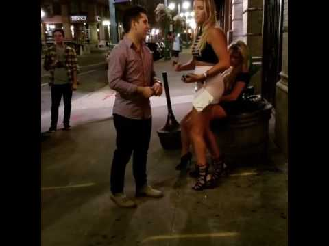 Two Drunk Hot Blonde Girls in High Heels Try to Join a Club