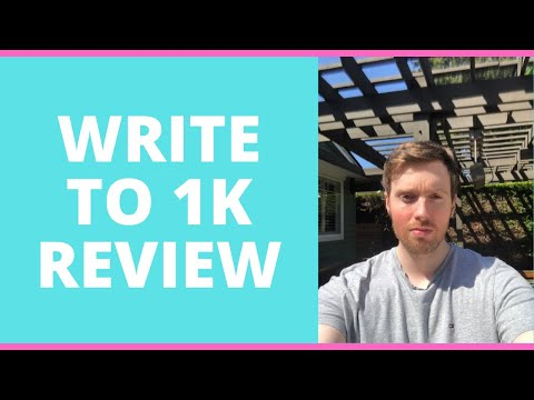 Write To 1K Review - Do You Really Want To Be A Freelance Writer?