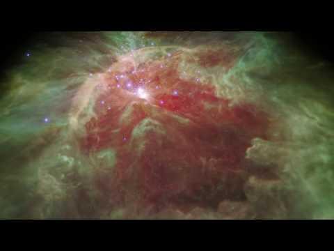 Flight Through the Orion Nebula in Infrared Light