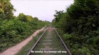 Battambang Bamboo Train  バッタンバンでバンブートレインに乗ろう