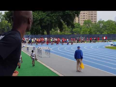 9-10 boys 100m dash finals, Icahn Stadium