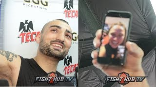 RONDA ROUSEY CALLS VANES MARTIROSYAN DURING INTERVIEW TO WISH HIM LUCK IN GOLOVKIN FIGHT