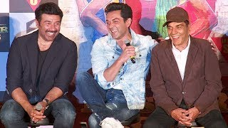 Dharmendra,Sunny & Bobby Deol\'s FUNNY Moments At Poster Boys Trailer Launch