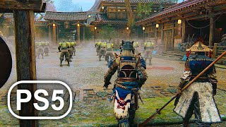 PS5 Gameplay 1 Samurai Warrior Vs Samurai Army 4K ULTRA HD - For Honor