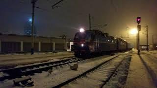 UltraHD 4K Електровоз ЧС8-009 з поїздом EN #5 'Україна' Москва-Київ