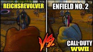 ENFIELD NO. 2 VS. REICHSREVOLVER - WHICH NEW DLC PISTOL IS BETTER? [COD WW2 DLC WEAPON COMPARISON]
