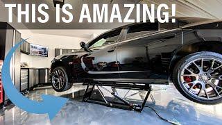 Home Garage CAR LIFT! - QuickJack Unboxing - Setup - Oil Change + POWER!