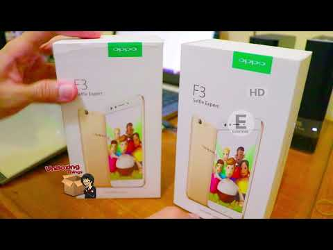 OPPO F3 Gold & Gold Rose Unboxing INDONESIA