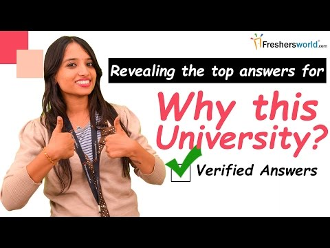 How to Answer Common Admission Interview Question - Why this university? II Interview tips