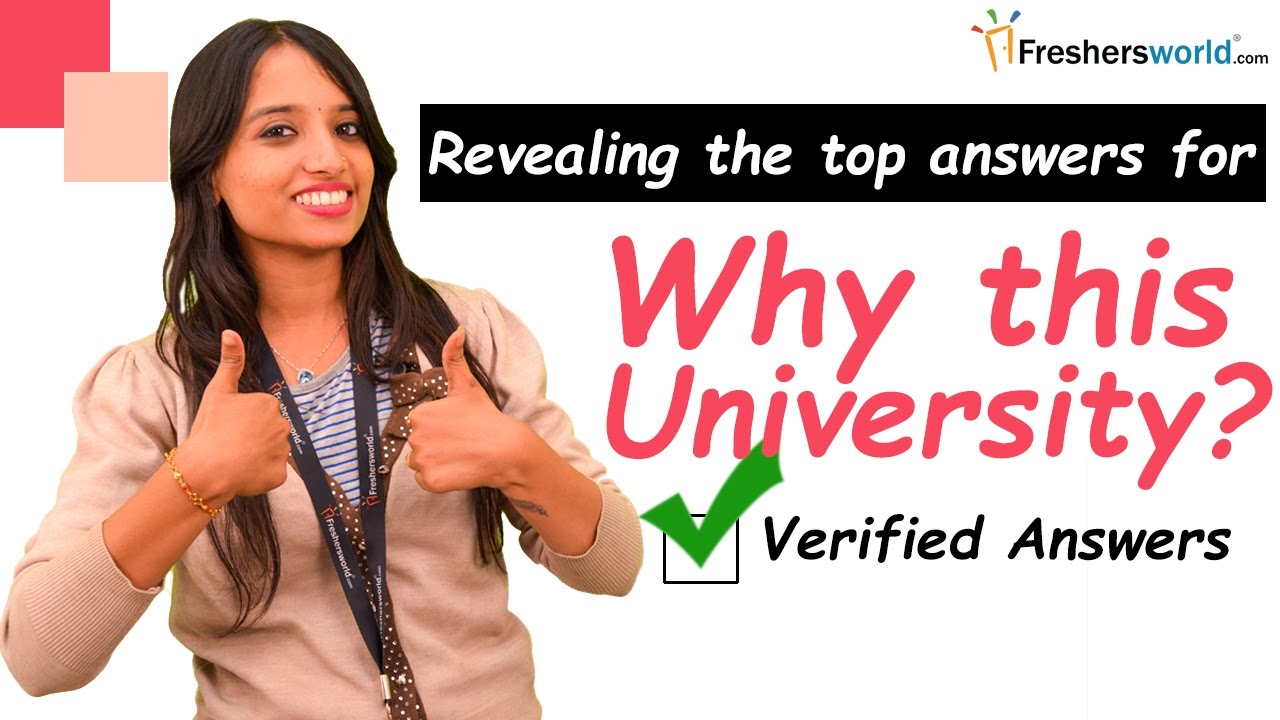 How To Answer Common Admission Interview Question Why This University Ii Interview Tips Youtube