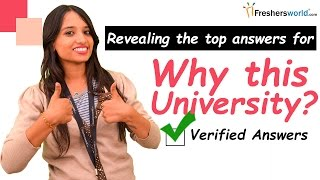 How to Answer Common Admission Interview Question - Why this university? II Interview tips thumbnail