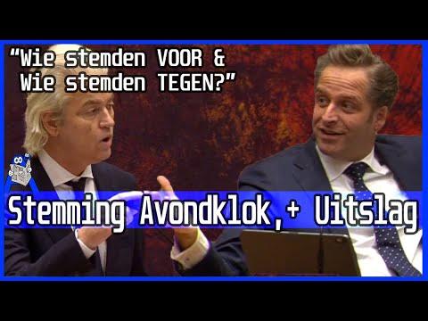 Invoering avondklok - Wie is voor & wie is tegen? Stemming motie Wilders - Tweede Kamer akkoord