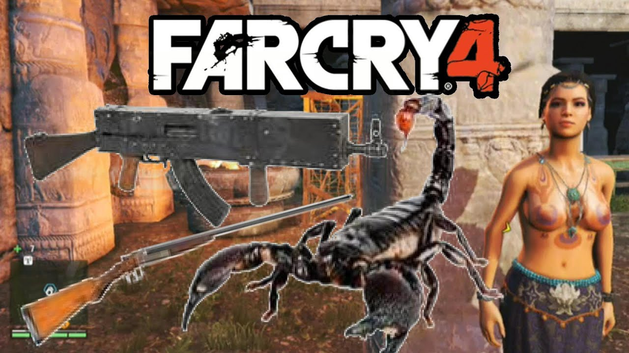 far cry 4 weapons challenge 2 700 nitro skorpion stg 90 assult rifle far cry 4 gameplay  [ 1280 x 720 Pixel ]