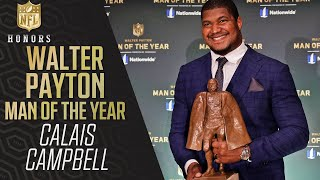 Calais Campbell Wins Walter Payton NFL Man of the Year Award | 2020 NFL Honors