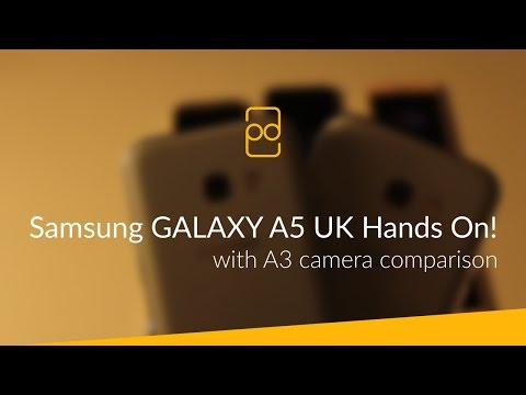 Samsung GALAXY A5 (2017) - UK Hands On! (with A3 Camera Comparison)
