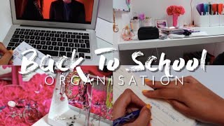 BACK TO SCHOOL ORGANISATION !!