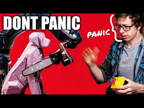 Making chainsaw robot, carving logs - Stuff Made Here