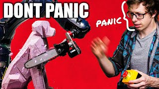 Making chainsaw robot, carving logs