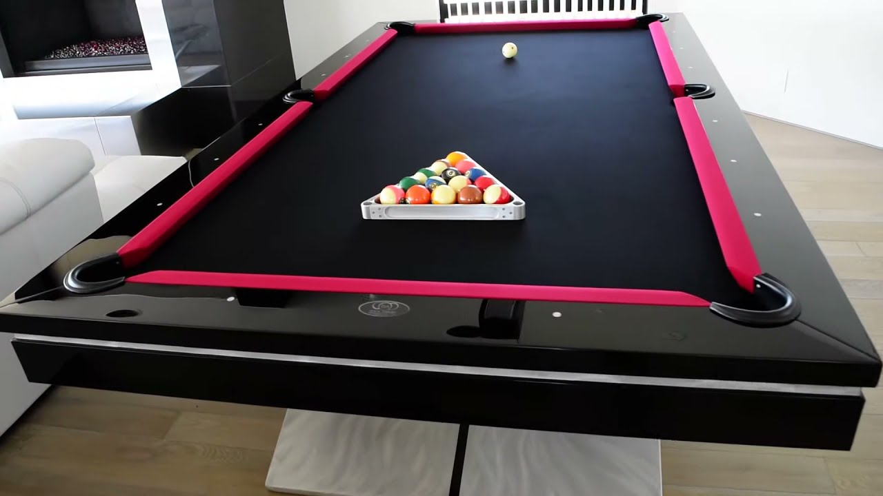 Ultra modern pool table contemporary pool tables youtube - Modern pool table ...