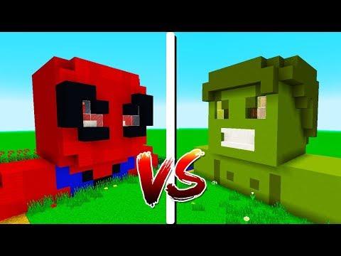 CASA HULK vs CASA HOMEM ARANHA | OS VINGADORES - Minecraft Casa vs. Casa