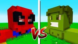 CASA HULK vs CASA HOMEM ARANHA   OS VINGADORES - Minecraft Casa vs. Casa