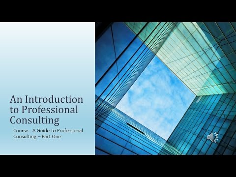 Introduction To Professional Management Consulting