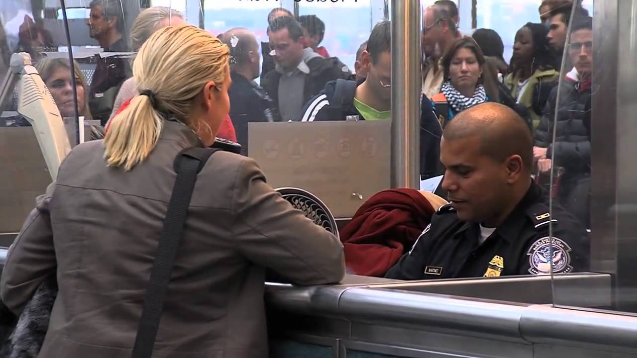 Us Customs & Border Protection Operations Back At Newark Airport  Youtube