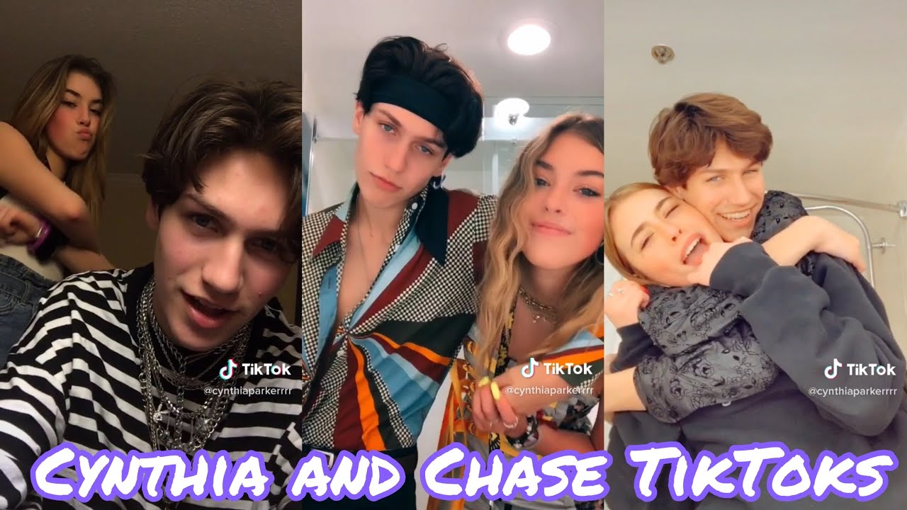 Cynthia Parker and Chase Hudson TikTok Video's Together