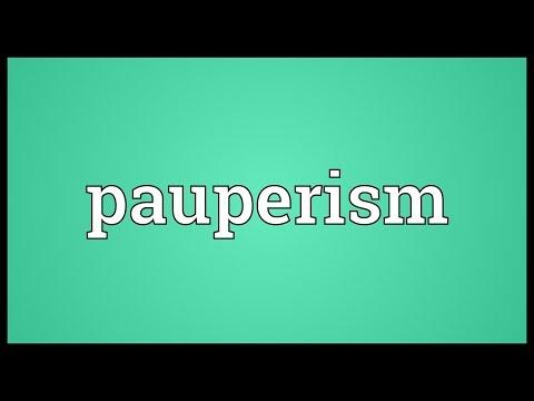 Header of pauperism