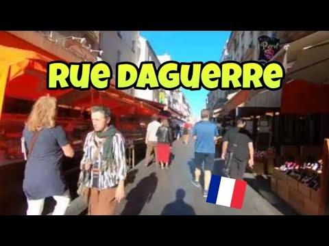 "Walking tour in Paris : ""Rue Daguerre"" pedestrian street"