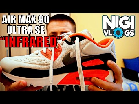 Nike Air Max 90 Ultra SE 'Infrared' Unboxing + On Feet