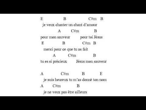Je veux chanter un chant d'amour - EDEN (paroles & accords)