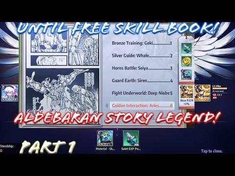 Saint Seiya: Awakening - Taurus Aldebaran Saint Legend Story Part 1! Until The Free Skill Book!