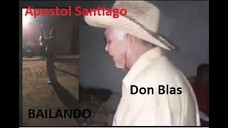 Bailando y Cantando esta el Apostol Santiago zuniga y Don blas el mero toro