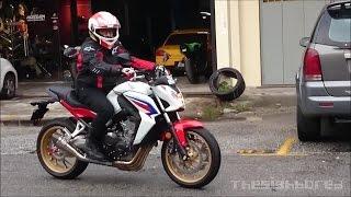 Honda CB650F Yoshimura R-55 VS Scorpion RP-1 GP exhaust