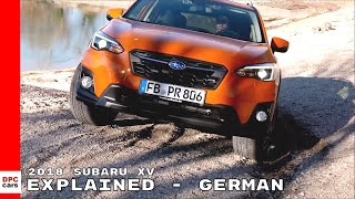 2018 Subaru XV Explained - German/Deutsch