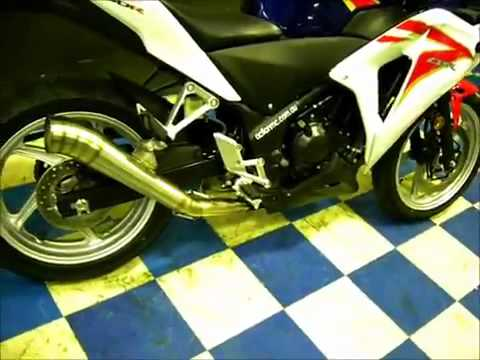 2011 Honda Cbr250r Custom Exhaust Www Cbr250 Org Youtube