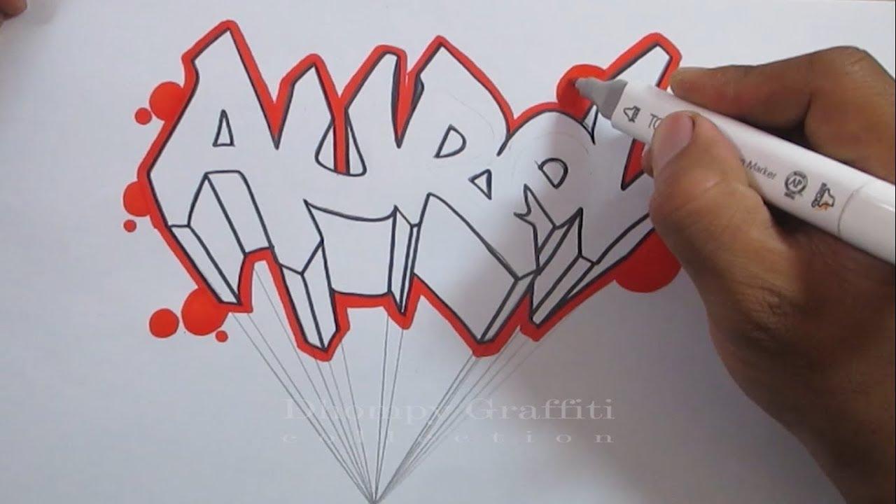 Cara Membuat Graffiti Nama Aurel Youtube