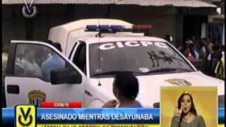 Asesinan a un hombre mientras desayunaba en una panadería en Tucupita