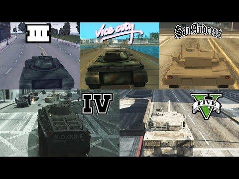 TANK Evolution In GTA Games! 1997-2019