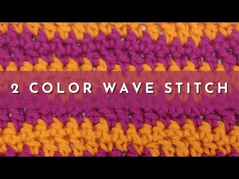 How To Crochet The 40 Color Wave Stitch YouTube Best Lazy Wave Crochet Pattern