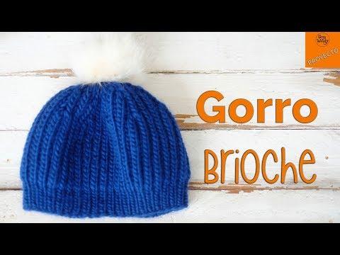 Gorro Unisex tejido en Punto Brioche (dos agujas) - Soy Woolly. Punto  Brioche paso ... fb446b365b4