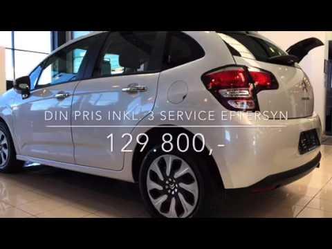 3 gratis serviceeftersyn ved køb af næsten ny Citroën C3