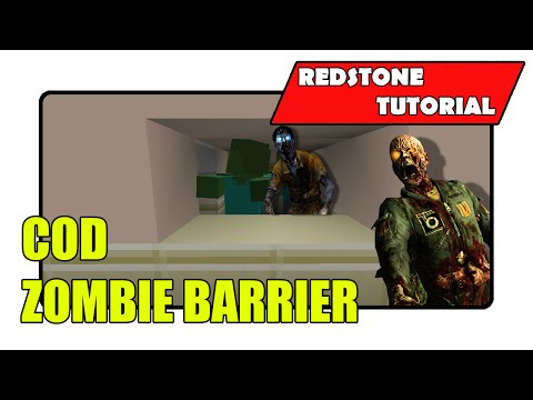 Zombie Barrier System for COD Maps (Minecraft Xbox TU24/CU12/PlayStation CL1.16)