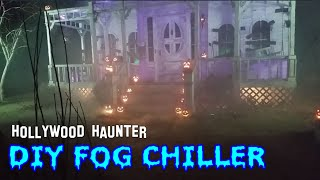 Fog Machine Chiller & Ground Fog Setup For Halloween Display - Fogging Up Our Haunted House