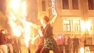 "Zerkala fireshow ""Cherry Kiss"". Estonia Tartu 2014"